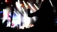 Ecstatic fan at the concert video