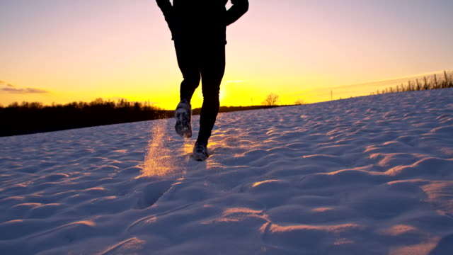 WS TS Ecstatic Jogger Feeling Triumphant In The Snow video