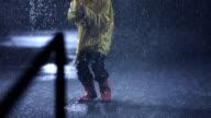 Ecstatic Little Girl In The Rain video