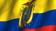 Ecuadar Flag - waving, looping video