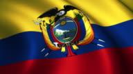 Ecuador Flag Loopable video