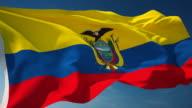 Ecuador Flag - Loopable video