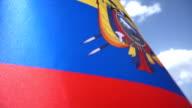 Ecuadorean Flag High Detail video