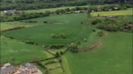 Eddisbury Hill Fort  - Aerial View - England, Cheshire, Delamere, United Kingdom video
