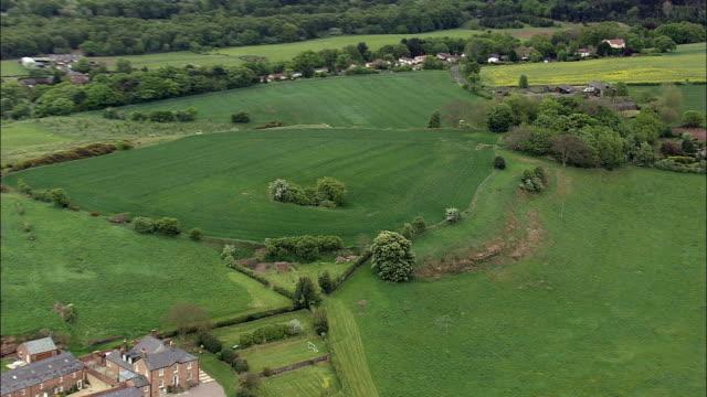 Eddisbury Hill Fort  - Aerial View - England, Cheshire, Delamere, United Kingdom video