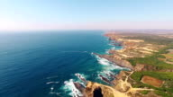 Edge of Europe - the west coast of Portugal aerial view video