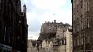 Edinburgh castle and skyline from the Grassmarket video