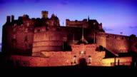 Edinburgh Castle at Twilight, Scotland, UK video