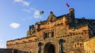 Edinburgh castle in Scotland UK video