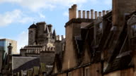 Edinburgh City Centre skyline with modern and traditional architecture video