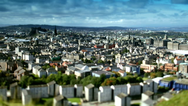 Edinburgh City time lapse tilt shift video