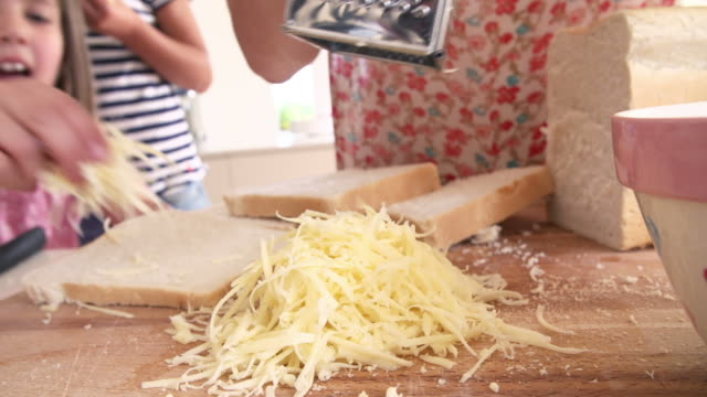 Edited Sequence Of Various Stages In Making Cheese On Toast video