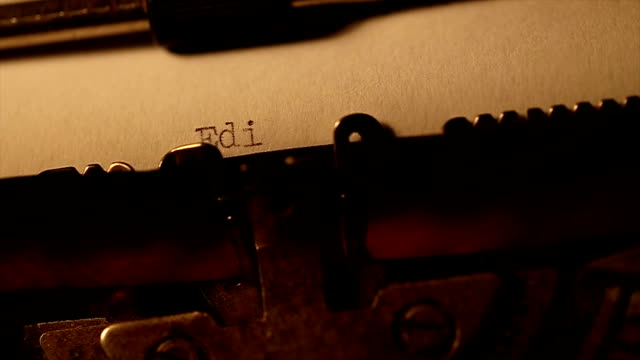 'Editorial' typed using an old typewriter video