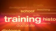 Education and Schooling Words Loop video