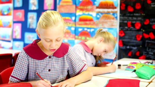 Education Children Doing School Work in Class video