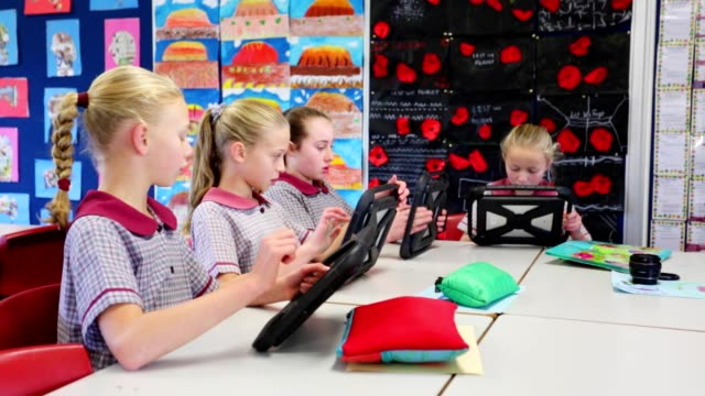Education Digital Learning With Computer Tablets video