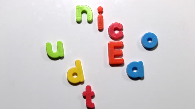 education - fridge magnet animation video