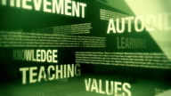 Education Related Terms Seamless Background Loop video