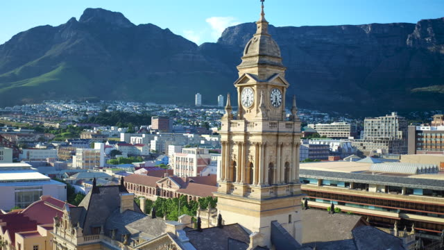 Edwardian architecture of the old Cape Town City Hall video