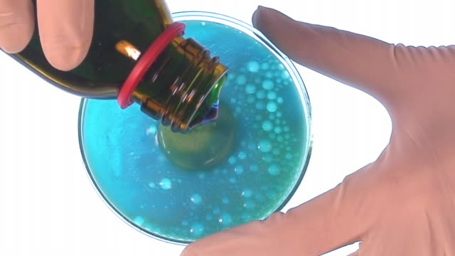 Effervescent pill in petri dish video