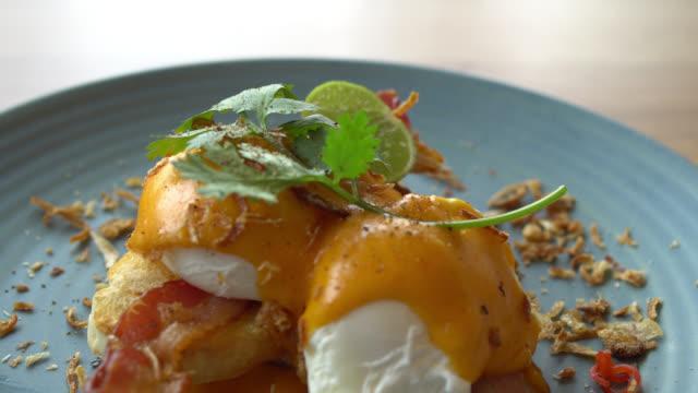 Egg benedict for breakfast video