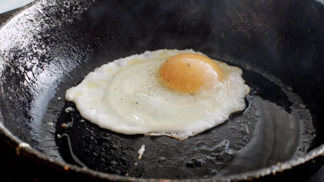 Egg fried in a pan video