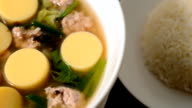 Egg tofu soup,Tofu egg soup,Minced pork and soya bean curd soup video