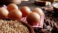 Eggs, pasta, flour... video