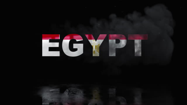 Egyptian Flag On Title is Revealing with Fire video
