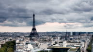 Eiffel Tower and Clouds in Paris France video