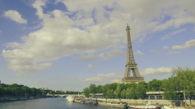 Eiffel Tower and the Seine river video
