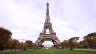 Eiffel tower at Autumn video