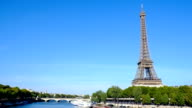 Eiffel tower in Paris, France - Stock Video - Stock Video video