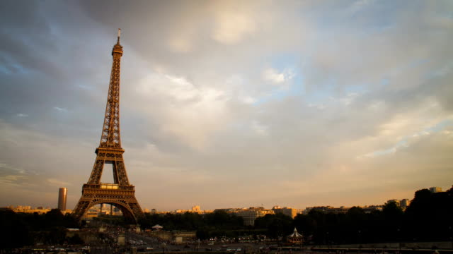 Eiffel tower in Paris, France video