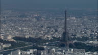 Eiffel Tower In Sun  - Aerial View - Île-de-France, Paris, France video