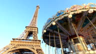 Eiffel Tower Paris, France - Stock Video video