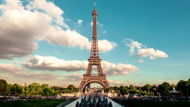 Eiffel Tower Timelapse, Trocadero, Paris video
