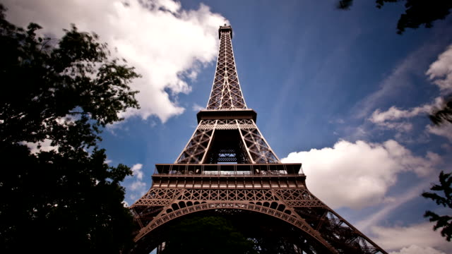 Eiffel tower timelapse video