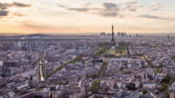 Eiffel tower time-lapse video