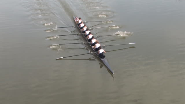Eight Man Rowing Race - Teamwork video
