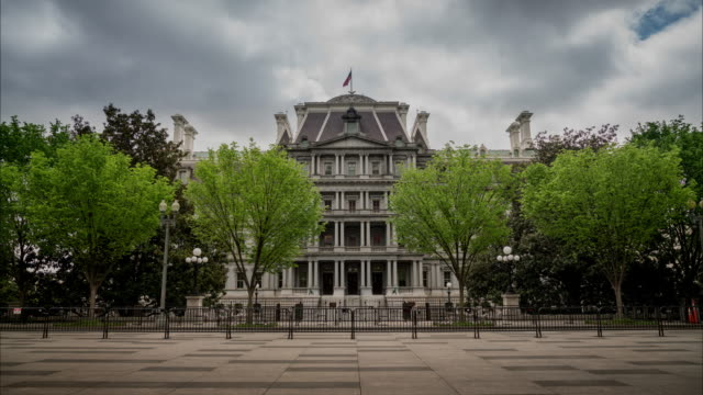 Eisenhower Executive Office Building - White House West Wing in 4k/UHD video