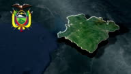El Oro with Coat Of Arms Animation Map video