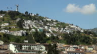 El Panecillo and panoramic view of Quito video