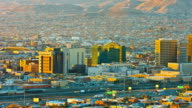 El Paso and Ciudad Juarez early in the morning video
