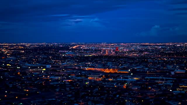 El Paso  Texas in the evening video