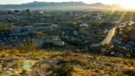El Paso TX and Ciudad de Juarez Chijuajua sunset video