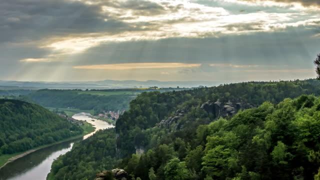 Elbe Sandstone Mountains Time Lapse video