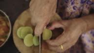 elder hands cooking video
