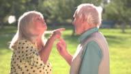 Elderly couple arguing. video