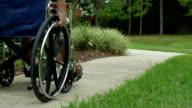 Elderly Man in Wheelchair video